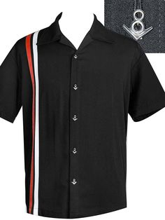 STEADY CLOTHING V8 Racer - Bowling Shirt | Flaming Star Shop