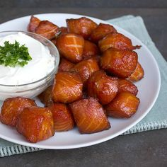 There is nothing like smoked salmon. Ever since I bought my Bradley smoker, I regularly smoke salmon. The other day, I was walking in a Walmart and saw that they were selling smoked salmon nuggets …