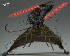 Brizo by benedickbana on DeviantArt Fantasy Character Design, Character Design Inspiration, Character Art, Arte Ninja, Arte Robot, Star Wars Sith, Star Wars Rpg, Star Wars Concept Art, Star Wars Fan Art