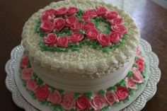 Buttercream roses.