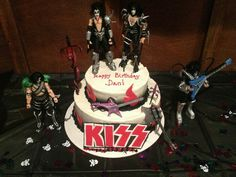 Dad's KISS birthday cake #KISS #Cake