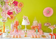 Luscious pinwheel backdrop. Table styling. Birthday party girls. Shower inspiration.
