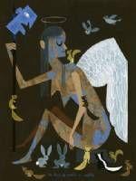 No fear of angels or rabbits print by Amanda Visell