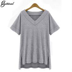 Summer Plus Size 4XL 5XL Cotton Solid Clothing Casual V neck     BUY ONE HERE ==> https://giftsegment.com/summer-plus-size-4xl-5xl-cotton-solid-clothing-casual-v-neck-girlfriend-gift-ideas/    #boyfriendgiftideas #friendgiftideas #bestbirthdaygifts