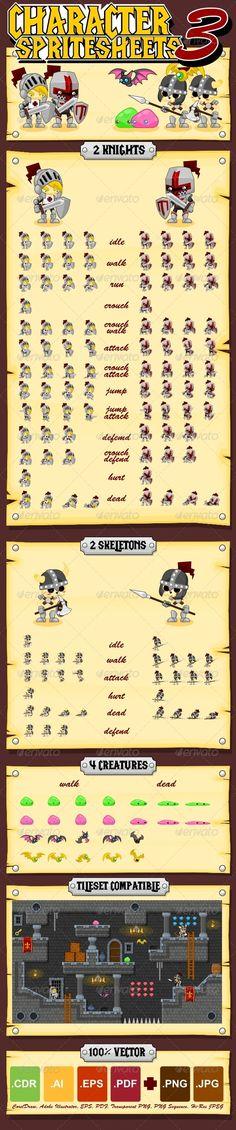 Characters Spritesheet 3 - Characters Vectors