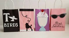 Grease/50's Party Favor Bags! Mention you found my listing on Pinterest, for a…