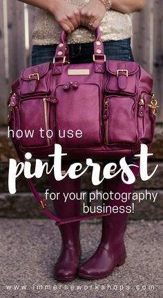 Learn how to use Pinterest for Your Photography Business - tips & tricks to get you started on the right foot! via @immersephotos