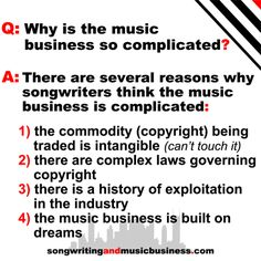 Why is the music business so complicated?
