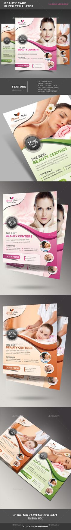 Beauty Care Flyer Template PSD. Download here: https://graphicriver.net/item/beauty-care-flyer-templates-/17381838?ref=ksioks