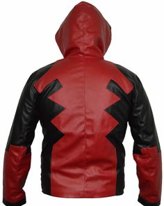 deadpool hoody Artificial Leather Jacket Premiere Quality All sizes available Deadpool Hoodie, Leather Vest, Red Leather, Mens Clothing Styles, Clothing Apparel, Artificial Leather, Red Hoodie, Celebrity Outfits, Celebs