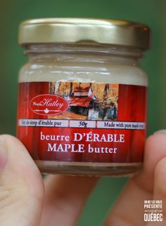 Le beurre d'érable :) Une merveille !!!