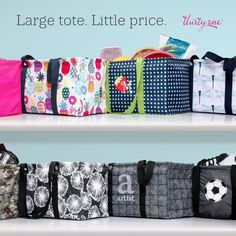 If you don't have a large Utility Tote, May is the month to finally get yours! Get yours for $12, when you spend $40. #canadianbaglady #lut #luvmylut #thirtyone #allpurposetote #boxbag #customerspecial #31gifts #ilikebigbags #totes #utilitytote #thirtyonegifts #custombag #personalizedgifts