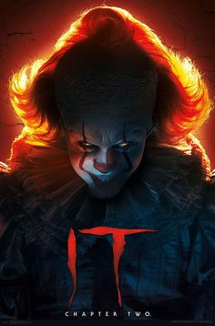 IT Chapter 2 Pennywise Poster Two Movies, Iconic Movies, Scary Movies, Pennywise Poster, Pennywise The Dancing Clown, Horror Movie Posters, Horror Movies, Horror Icons, Scary Wallpaper