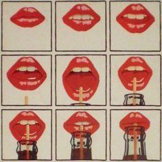 Red lips+Coca Cola