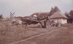 These photo show the crude conditions for maintenance on the Eastern Front, 1943. The aircraft shown is a Messerschmitt Bf 109 G-6 of JG 52