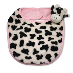 The Babymio Collection Mooky the Cow Bib, Pink/Black/White $14.99