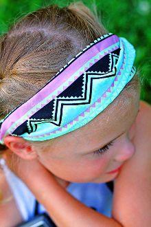 Child's Multicored Aztec Design Headband