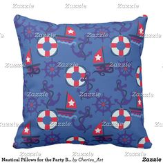 Nautical Pillows for the Party Barge! | Sailboats