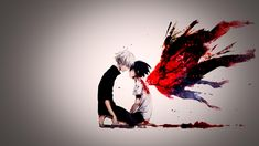 anime: tokyo goul /  kaneki y touka