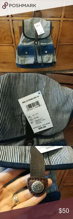 Lucky Brand Railroad Stripe Backpack/Wallet Set ... Lucky Brand Bags
