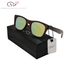Natural Ebony Wooden Sunglasses Men s Luxury Brand Design Square Polarized  Sun Glasses With Wooden Gift Box 404687e582
