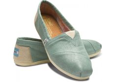 mint green metallic toms....so pretty