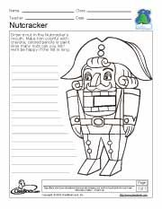 Nutcracker Christmas Activity Page