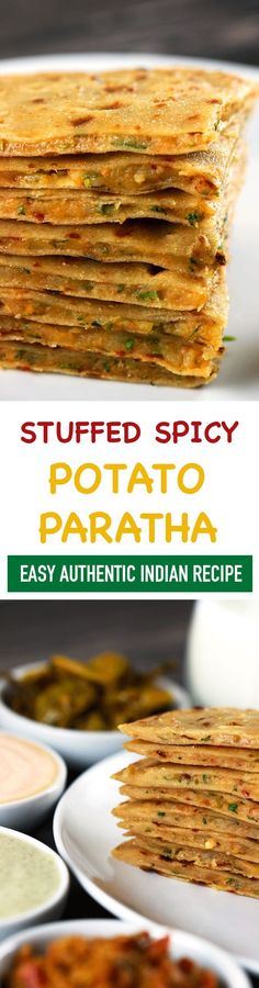 These Indian Stuffed Potato Parathas are perfect when you want to have delicious classic Indian food, but don't want to make anything too complicated! Each bite is bursting of delicious flavors that y (Asian Breakfast Recipes) Indian Food Recipes, Asian Recipes, Vegetarian Recipes, Cooking Recipes, Vegan Indian Food, Pakistani Food Recipes, Indian Potato Recipes, Indian Meal, Japanese Recipes
