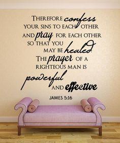 James 5:16 Bible Verse Wall Decal