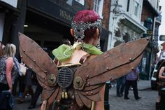 Steampunks wear a variety of intricate costumes and can be seen on the streets of Lincoln throughout the weekend