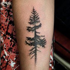 Little tree tattoo by @ramshackle_tattoo @piercedhearts #pnw #tree #treetattoo…