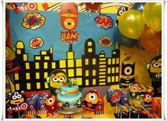 Minions superhero Birthday Party Ideas   Photo 9 of 24   Catch My Party