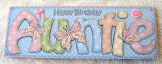 Card Gallery - Large DL Birthday AUNTIE Quick Card n 3D decoupage