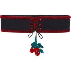 Strawberry Tassel Belt ❤ liked on Polyvore featuring accessories, belts, velvet belt, macrame belt, tassel belt and crochet belt