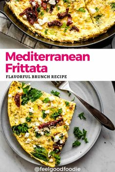 Switch up brunch from an ordinary omelette and try this Mediterranean Frittata made with spinach, feta