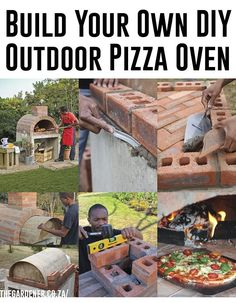 Build your own outdoor pizza oven! YUM!
