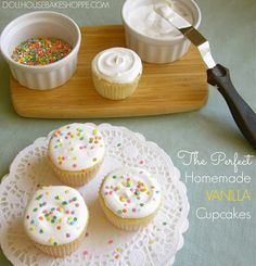 Lindsay Ann Bakes: Best Homemade Yellow Vanilla Cupcakes Ever (Versatile fluffy vanilla cupcakes from scratch with a variety of frosting variations!)