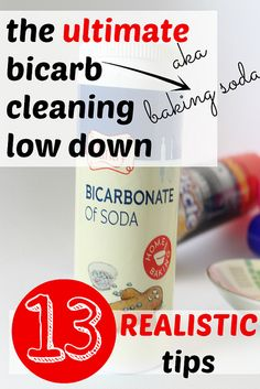Cleaning with baking soda aka bicarbonate of soda. Realistic ideas for a thrifty and eco friendly spring clean.