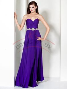 Sweetheart Chiffon Prom Dresses,Sweetheart Neck Prom Dresses,Strapless Prom Dresses,Floor-Length Prom Dresses
