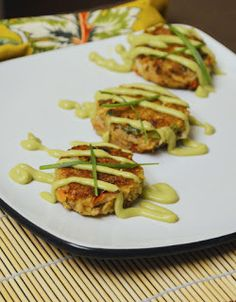 Paleo Girl's Kitchen: New Crab Cakes with Avocado Wasabi Sauce