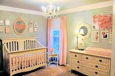 This baby girl nursery is lovely as can be and Mom isn't finished! There's more to come!