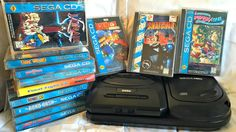 The Sega CD was a forwarding thinking add-on to the Sega Genesis / Mega Drive that had great games released for it! Nes Games, Arcade Games, Playstation, Sega Cd, Video Game Collection, Guide Book, Video Games, Nintendo, Memories