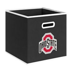 College Storeits Ohio State University in. H x 11 in. D Black Fabric Storage Bin Ohio State Baby, Ohio State Logo, Ohio State University, Ohio State Buckeyes, Fabric Drawers, Fabric Storage Bins, Storage Containers, Storage Boxes, Cube Storage Unit