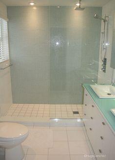 Open And Doorless Walk In Shower Basement Bathroom Ideasglass Marbles Alaskamaster