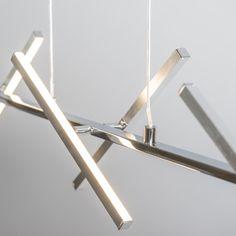 Lámpara colgante CROSS acero #interiorismo #decoracion #lamparayluz