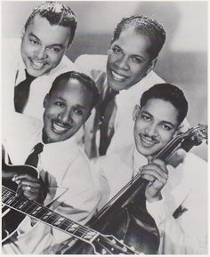 The Ink Spots were a vocal group in the 1930s and 1940s that helped define the musical genre that led to rhythm and blues and rock and roll, and the subgenre doo-wop. They and the Mills Brothers, another black vocal group of the same period, gained much acceptance in both the white community and black community.   Their songs usually began with a guitar riff, followed by the tenor Bill Kenny, who sang the whole song through.