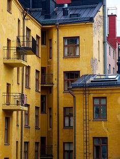 Yellow Brick House, Helsinki, Finland
