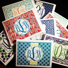 Monogramed stationary. Perfect to write thank you notes and use as cards!!
