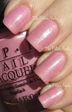 "OPI ""Pedal Faster Suzi's"" from OPIs Spring 2012 Holland Collection! Lovely light pink with silver sparkle and shimmer.  GOR.G.EOUS!!!"