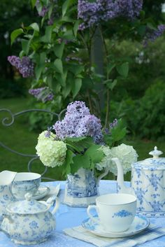Aiken House & Gardens: French Blue Garden Tea